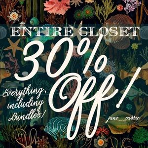 SALE! 30% off my entire closet!